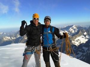 am Gipfel des westlichsten Viertausenders der Alpen!