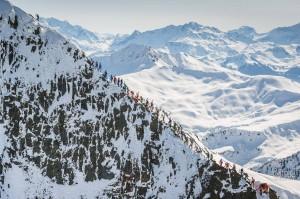 ...der Grat des Grand Mont...