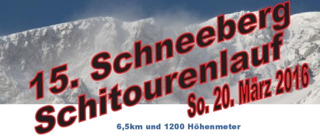Ausschreibung Schneeberg 2016!